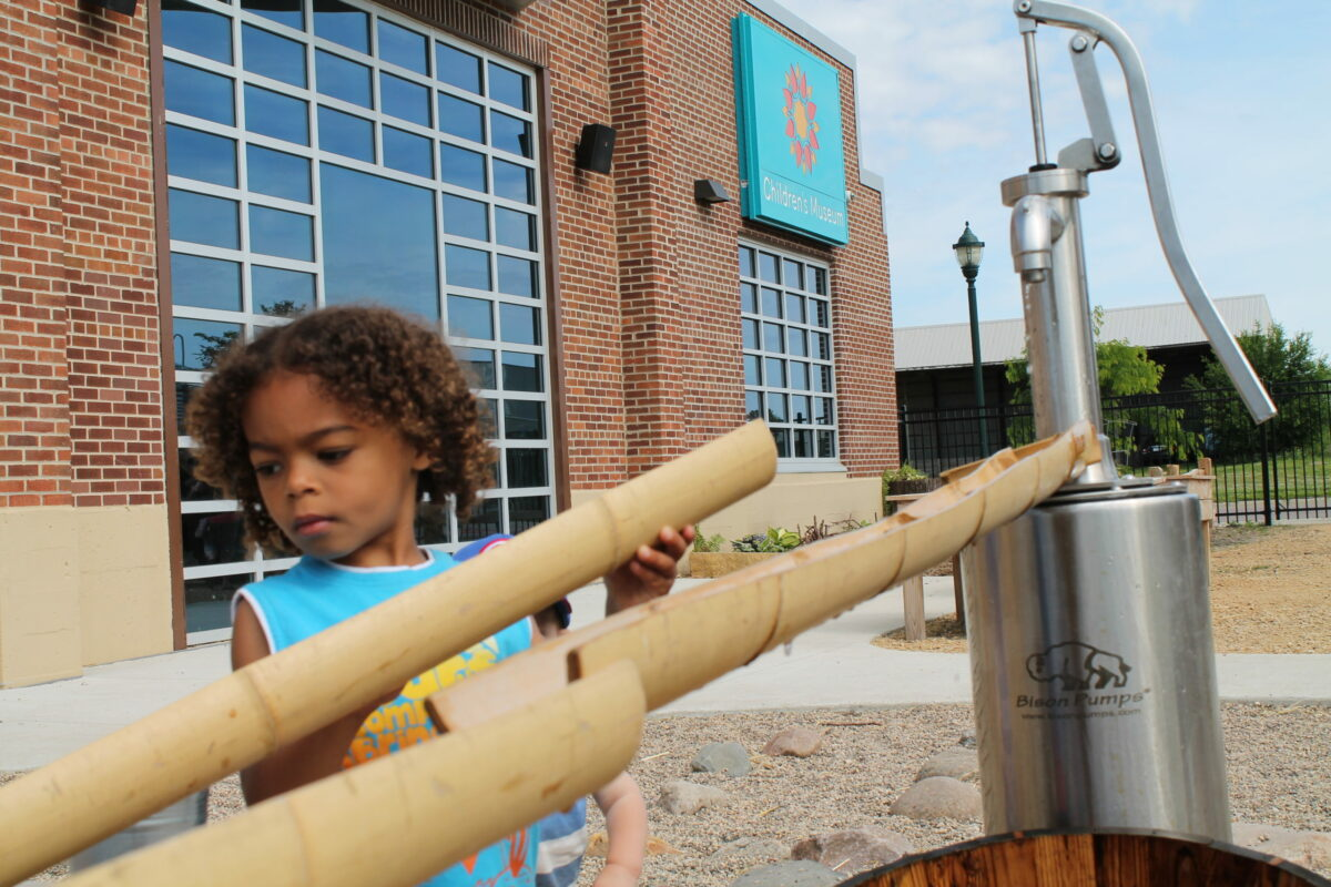 Water play area at Children's Museum of Southern Minnesota in Mankato