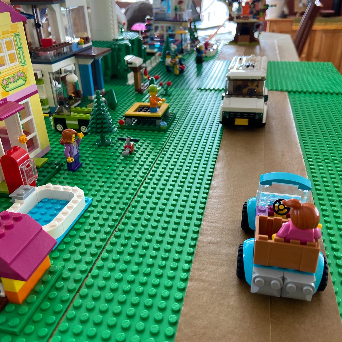 LEGO neighborhood under construction