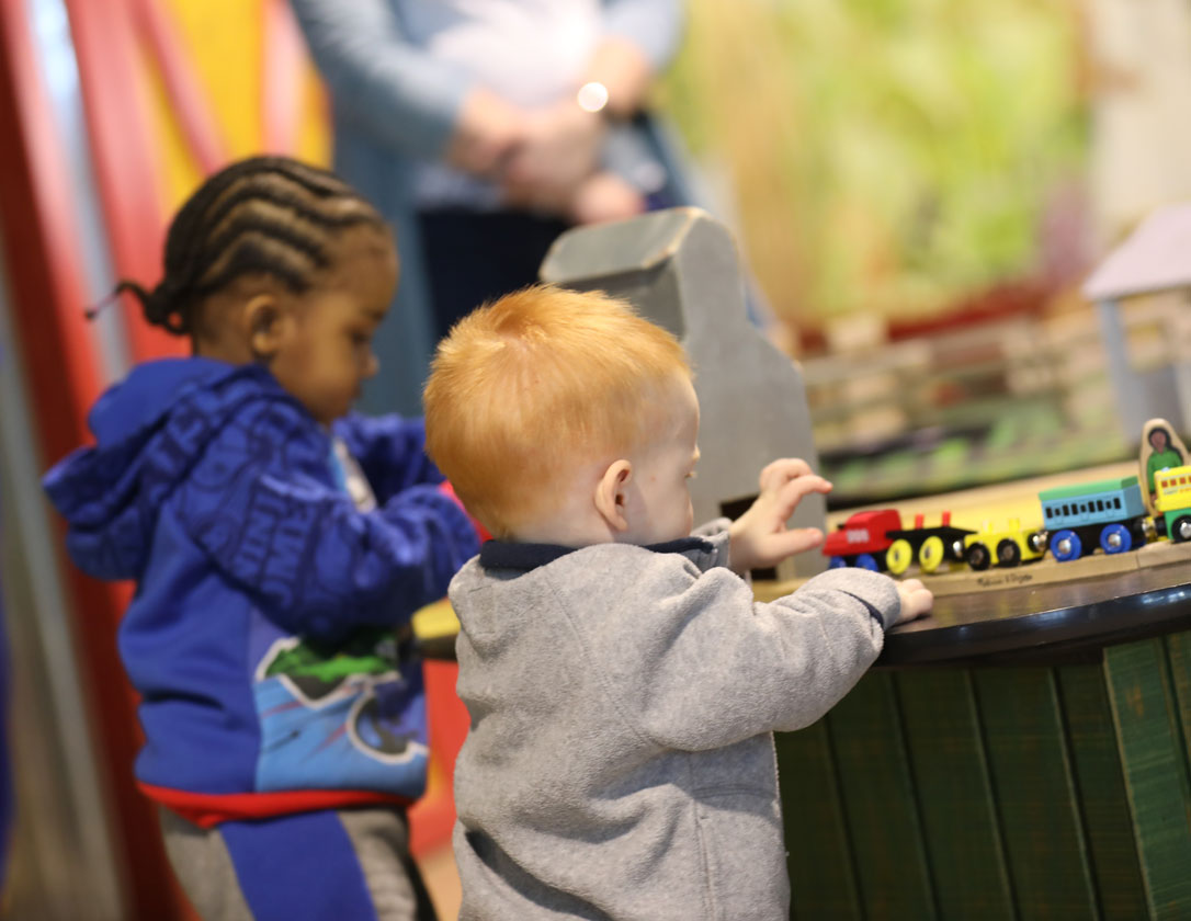 Children playing at the Little Hands Farm table Childrens Museum of Southern Minnesota.jpg