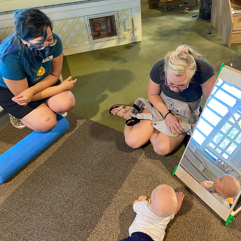 Baby Play programming at the Children's Museum of Southern Minnesota Mankato