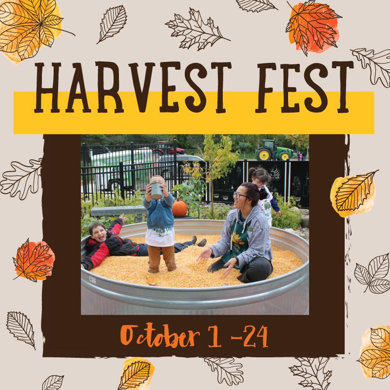 Harvest Fest fall festival autumn fun straw maze Children's Museum of Southern Minnesota Mankato